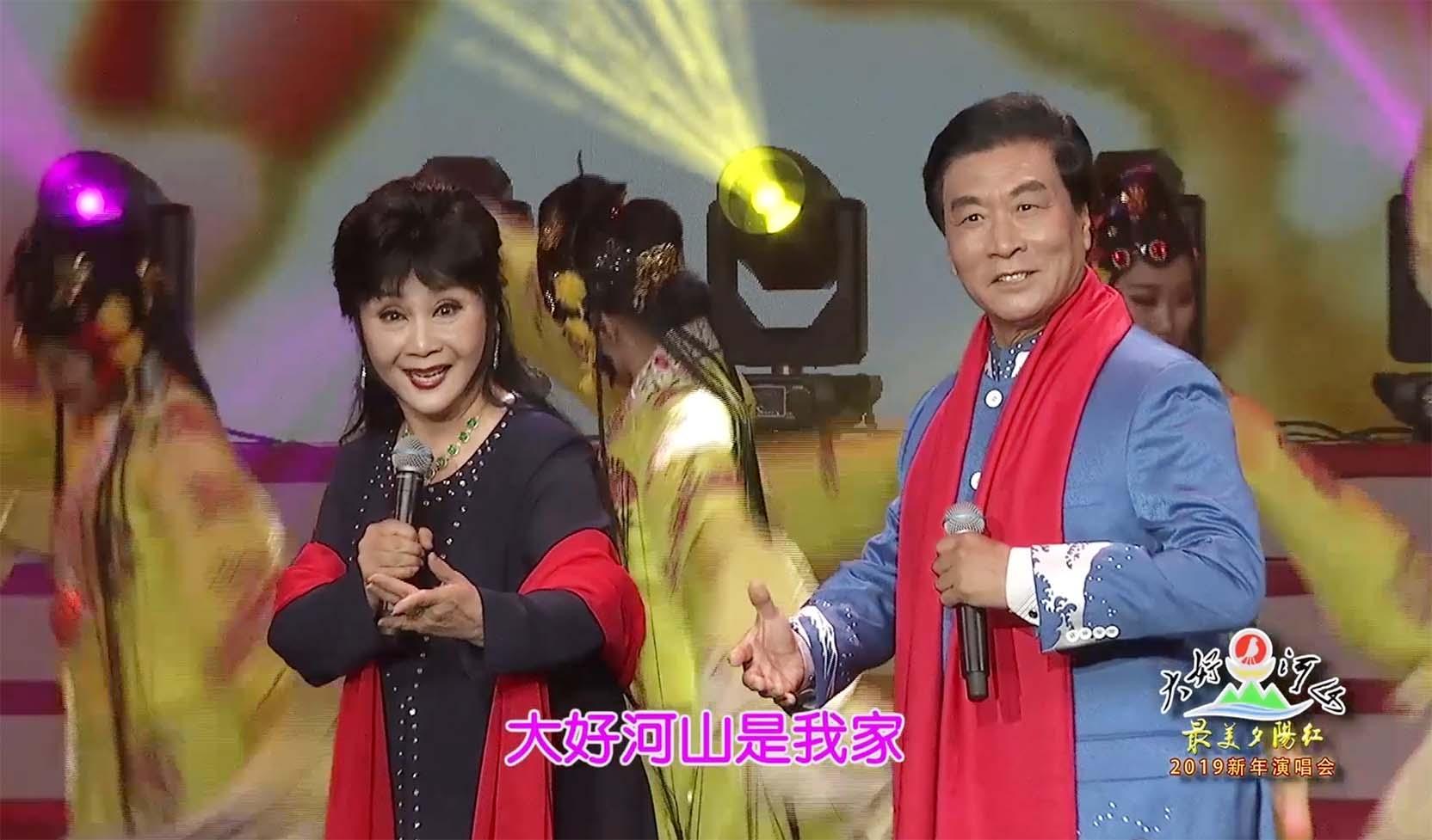 """大好河山2019""""最美夕阳红""""新年公益晚会 戏歌《大好河山是我家》戴月琴、朱宝光"""