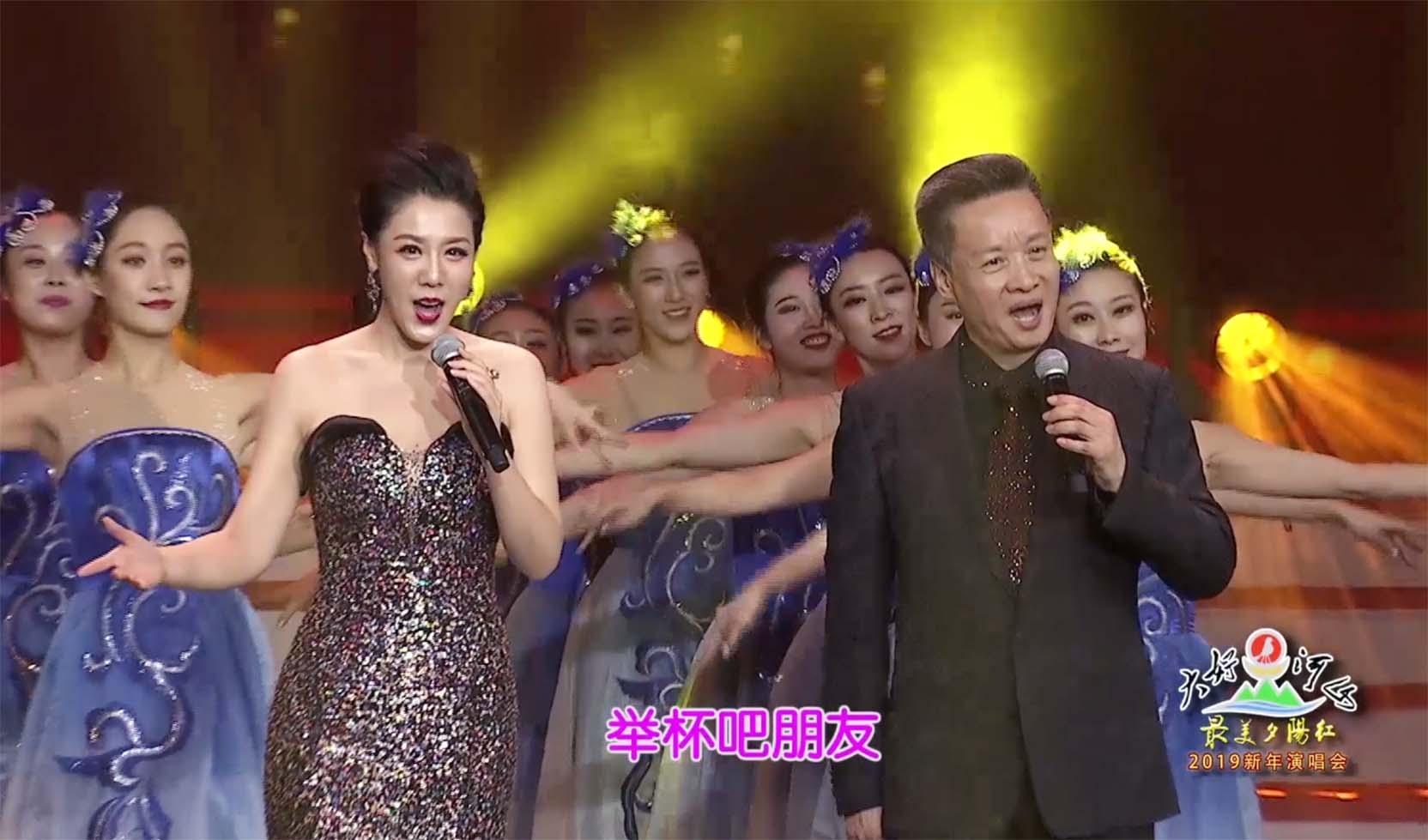 """大好河山2019""""最美夕阳红""""新年公益晚会 歌曲《举杯吧朋友》阎维文 王喆"""