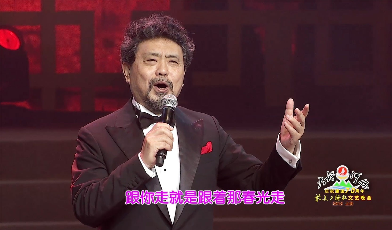 """大好河山2019上海""""最美夕阳红""""文艺晚会 歌曲《跟你走》魏松"""