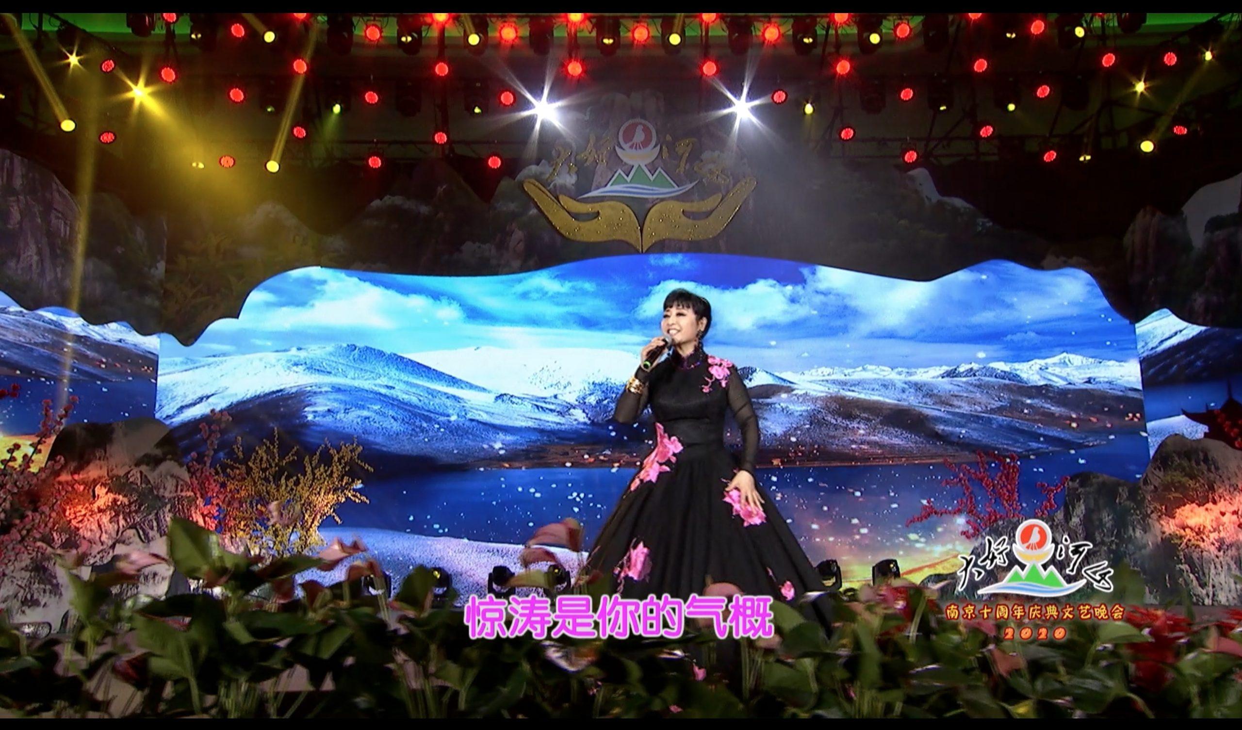 2020大好河山南京十周年庆典公益晚会 歌曲《长江之歌》殷秀梅
