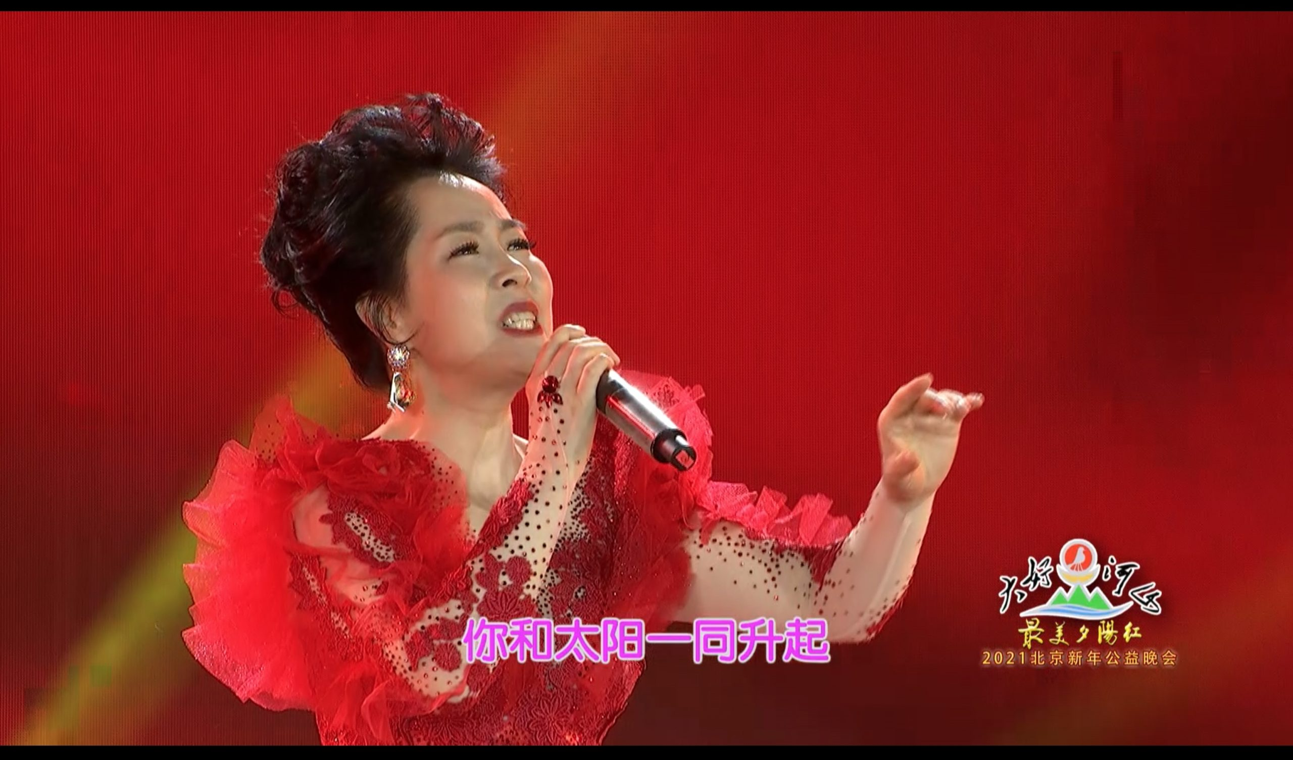 2021北京新年公益晚会 歌曲《五星红旗》杨淑红